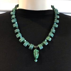 NWOT Green Malachite Necklace